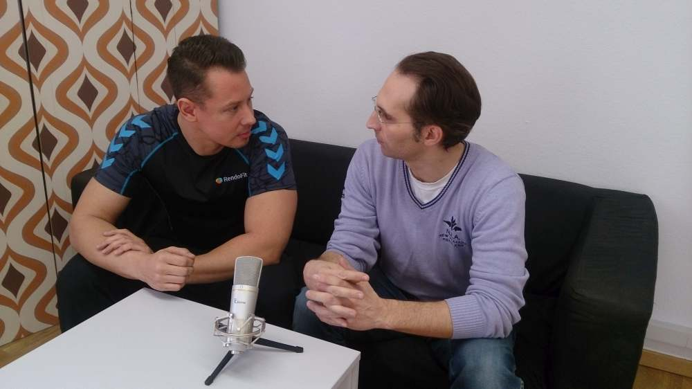 Andy und Falk beim Podcast-Interview