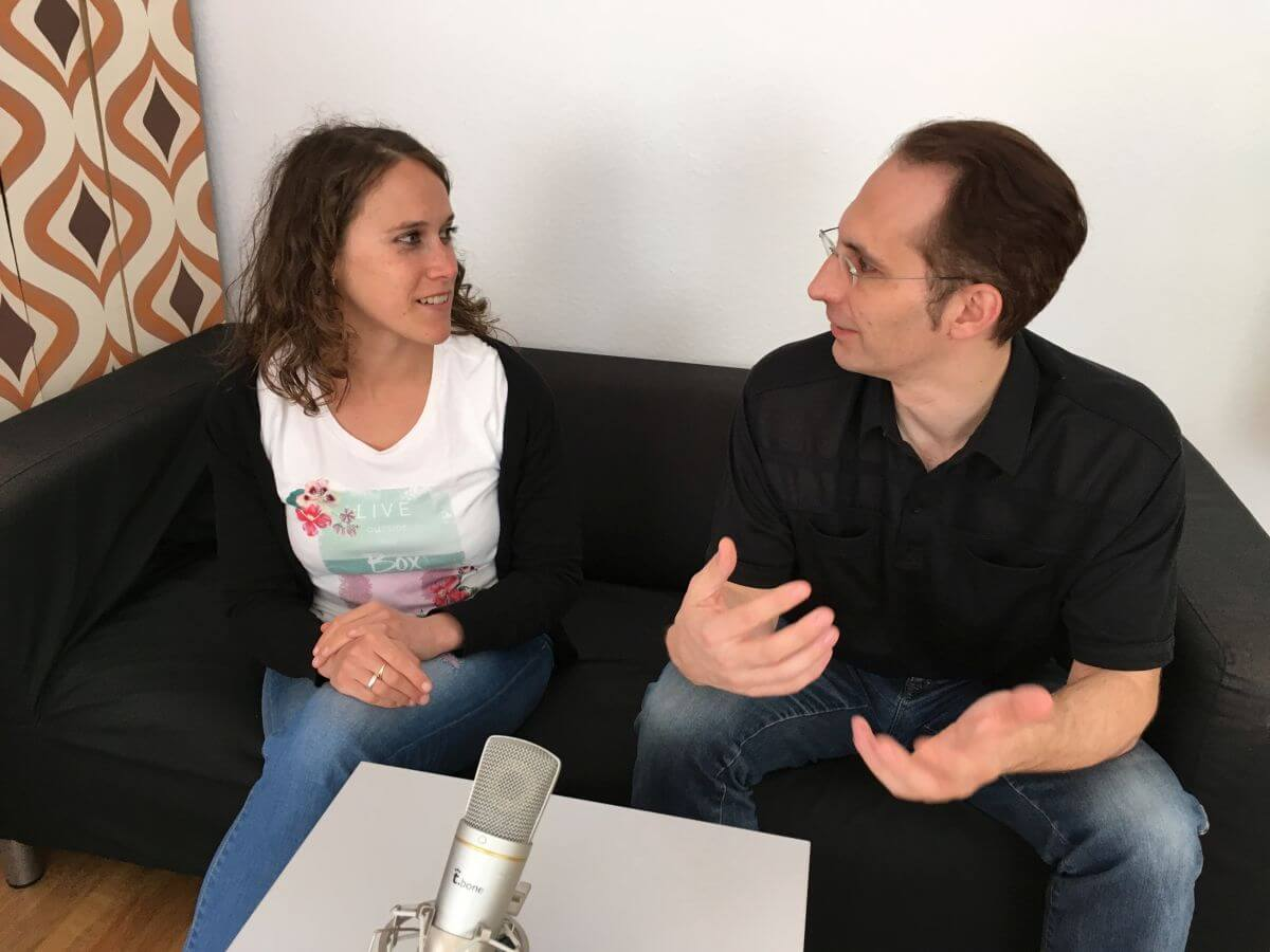 Andy und Janine beim Podcast-Interview