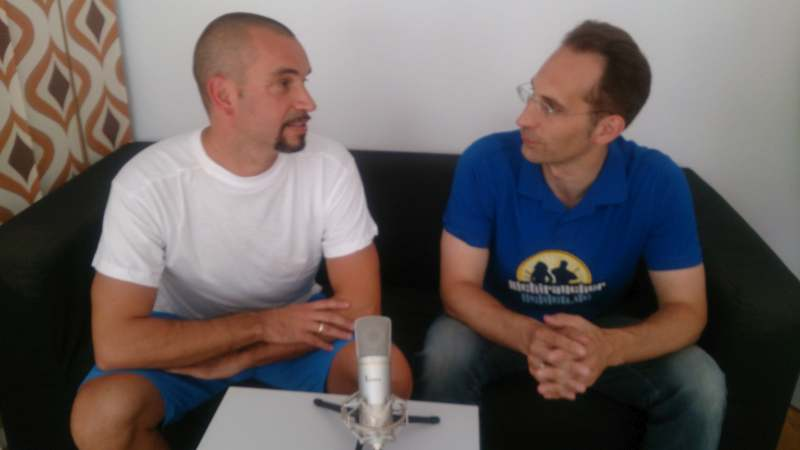 Andy und Dr. Rupp beim Podcast-Interview