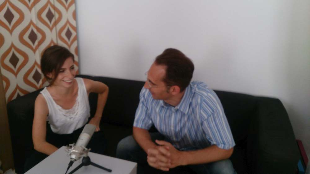 Andy und Isabel beim Podcast-Interview